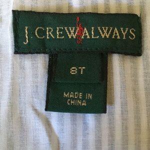 J. Crew Tops - J. crew striped peplum top, sz 8 tall